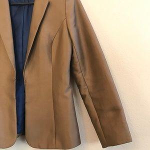 H&M Blazer Suit Jacket brown coat size 6